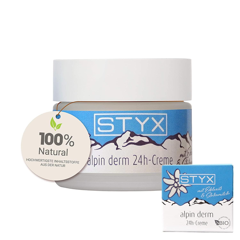STYX Gesichtscreme BIO Naturkosmetik alpin derm 24h creme 50ml